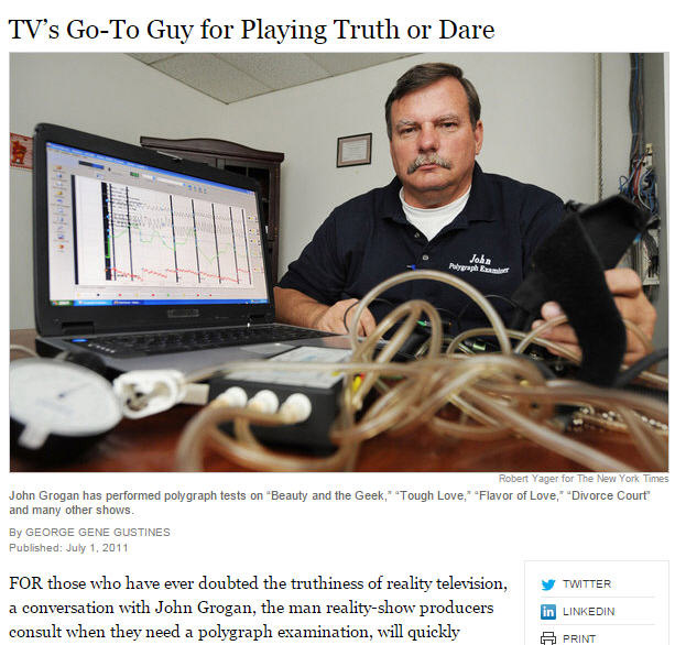 television polygraph with John Grogan