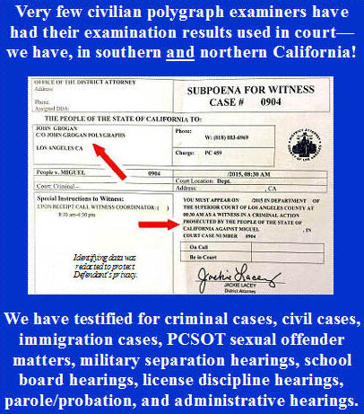 Prepare an attorney to use polygraph evidence in Los Angeles court