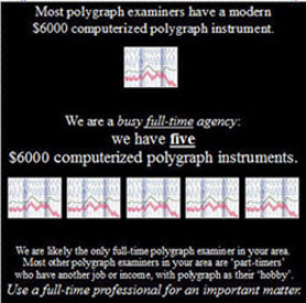 How many questions can be asked on a polygraph test