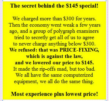 How to get lowest price on a lie-detection test in Los Angeles